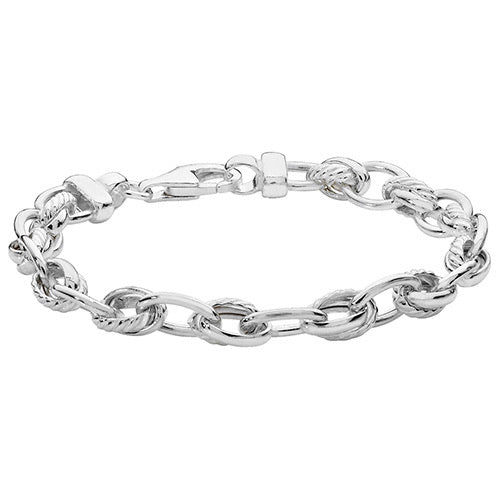 Sterling silver fancy linked bracelet