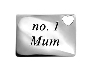 Number 1 mum necklace pendant love letter