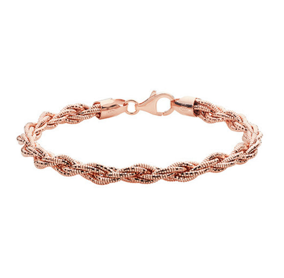Sterling silver rose gold sparkle bangle / bracelets