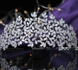 Golden or silver sparkly broad headband tiara crown