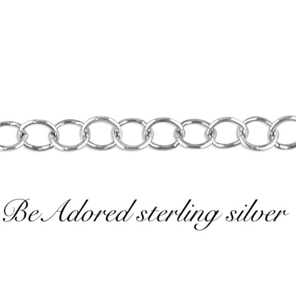 Big linked sterling silver chain necklace made to measure