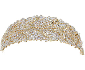 Golden or silver Sparkling bridal broad headband