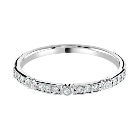Modern diamond set wedding ring / eternity ring