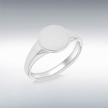 Sterling silver plain signet ring