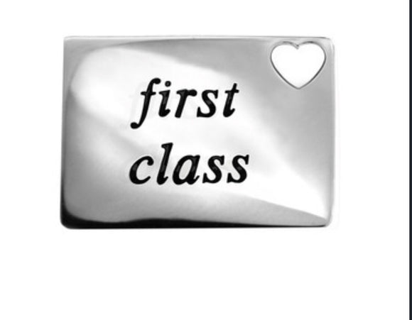 First class necklace. Love letter.