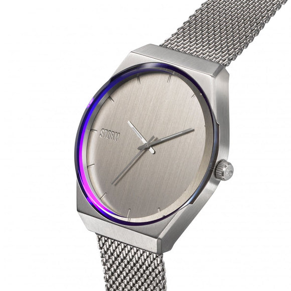 CIRERO SILVER gents storm watch.