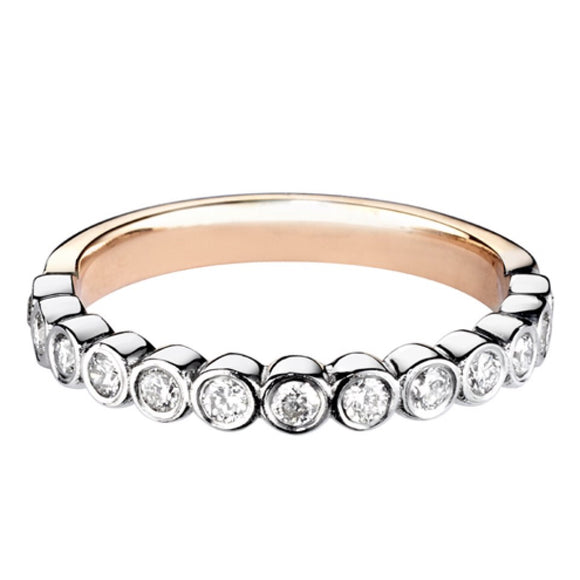Smooth set Diamond Wedding ring / eternity ring