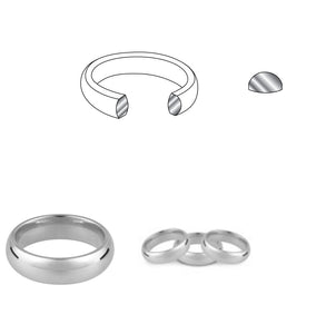 Court standard weight 18ct white gold 6mm