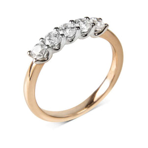 Diamond eternity ring five stone 3.4mm