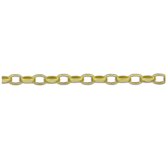 9ct gold 1.7mm thick diamond cut Belcher chain