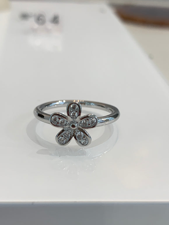 Dainty Flower stacking ring