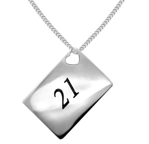 21st birthday pendant necklace . Forever keepsake