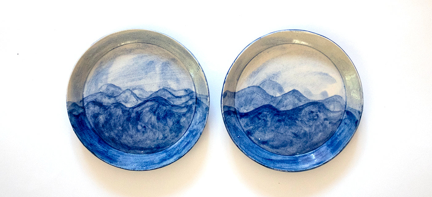 Hand painted PCH inspired little plates