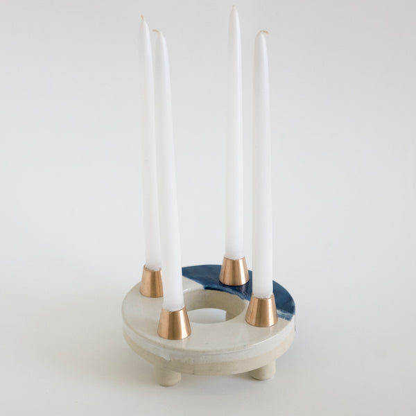 Modern Advent Wreath Blue - rust designs