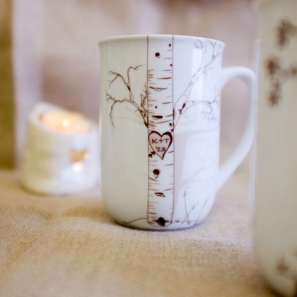 Personalized Birch Tree Mug - rust designs