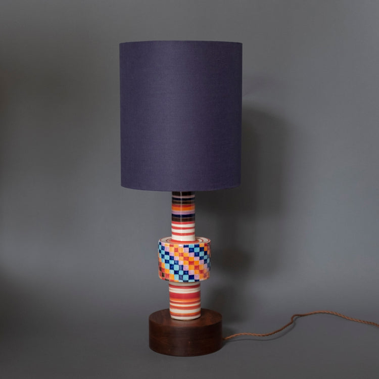 Hand-made Table Lamp Multi color - rust designs
