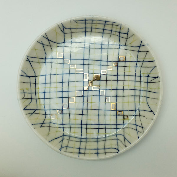 Checked Low Bowl - rust designs