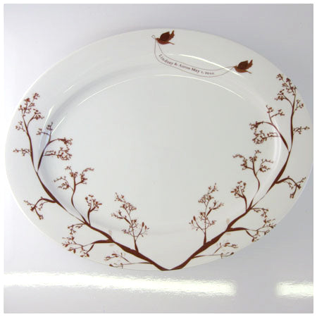 Love Bird 2 Platter - rust designs