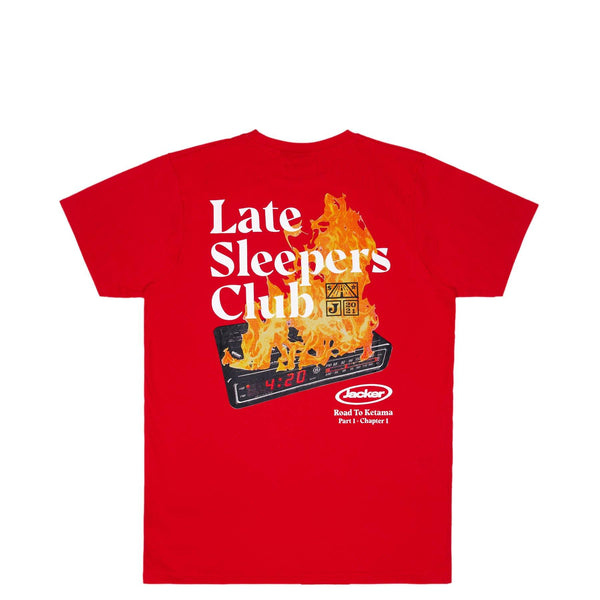 LATE SLEEPERS - T-SHIRT - RED