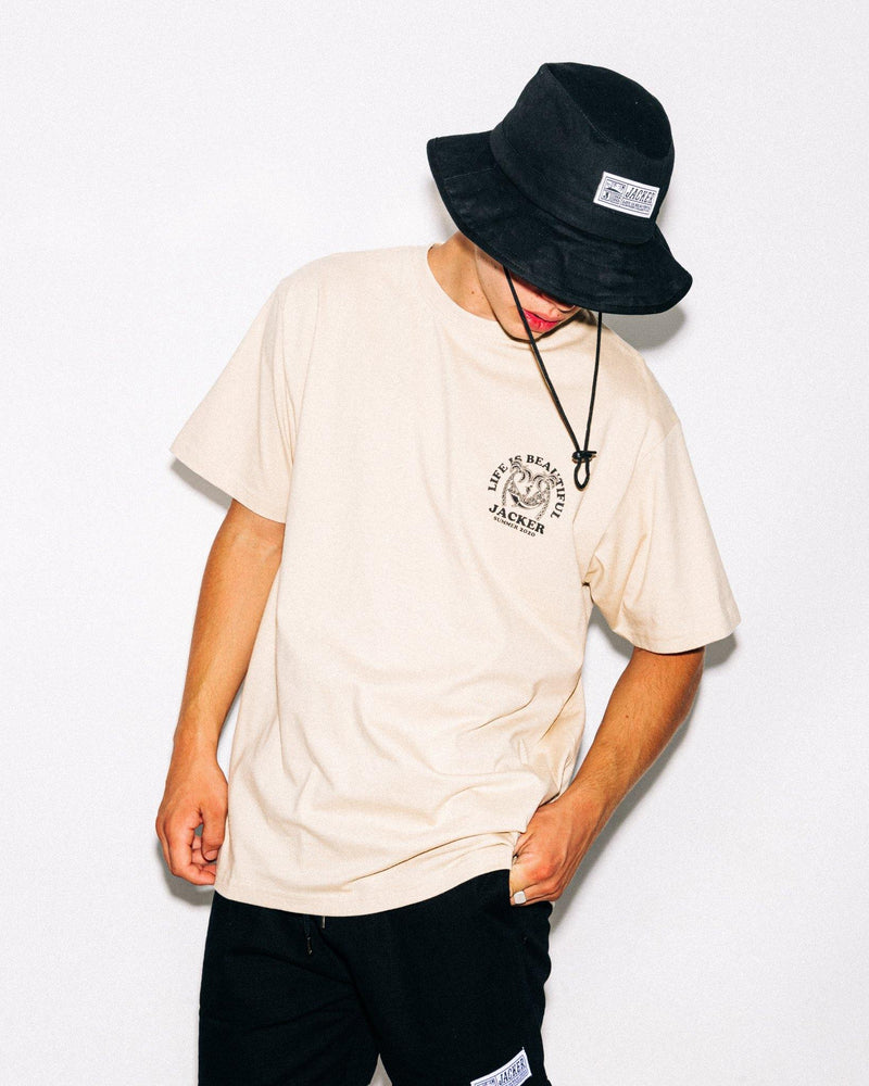 PALM BEACH - T-SHIRT - BEIGE