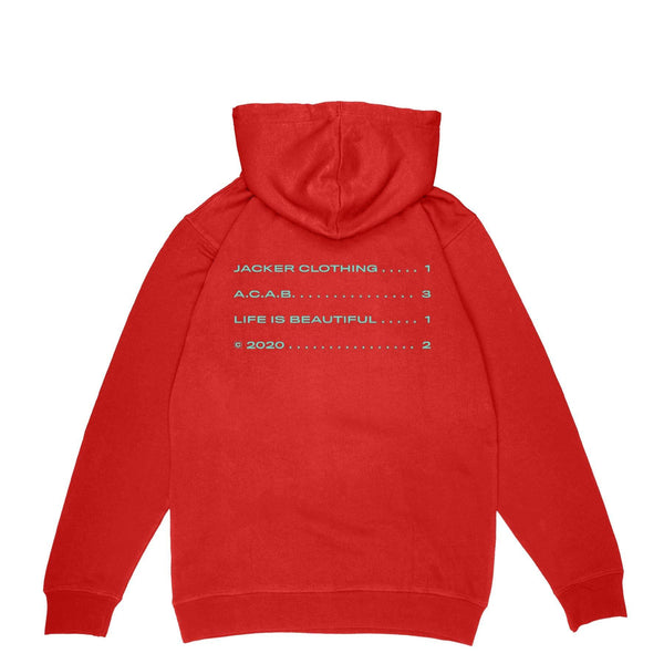 A.C.A.B. - HOODIE - RED