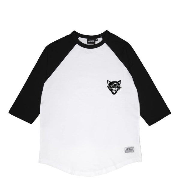 BLACK CATS - RAGLAN - WHITE/BLACK