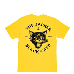 BLACK CATS - T-SHIRT - YELLOW