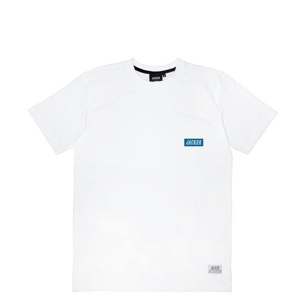 BOX LOGO BLUE - T-SHIRT - WHITE