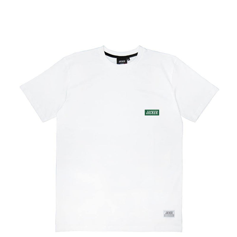 BOX LOGO GREEN - T-SHIRT - WHITE