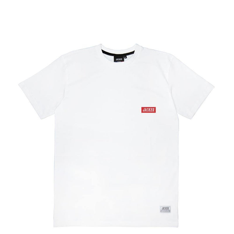 BOX LOGO RED - T-SHIRT - WHITE