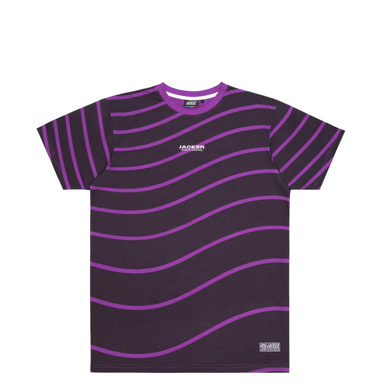 PURPLE WAVES - T-SHIRT - BLACK