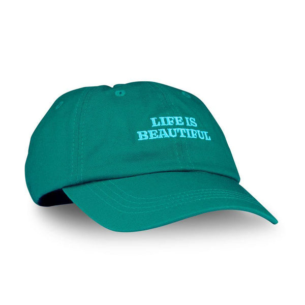 LIFE IS BEAUTIFUL - BASEBALL CAP - DARK GREEN