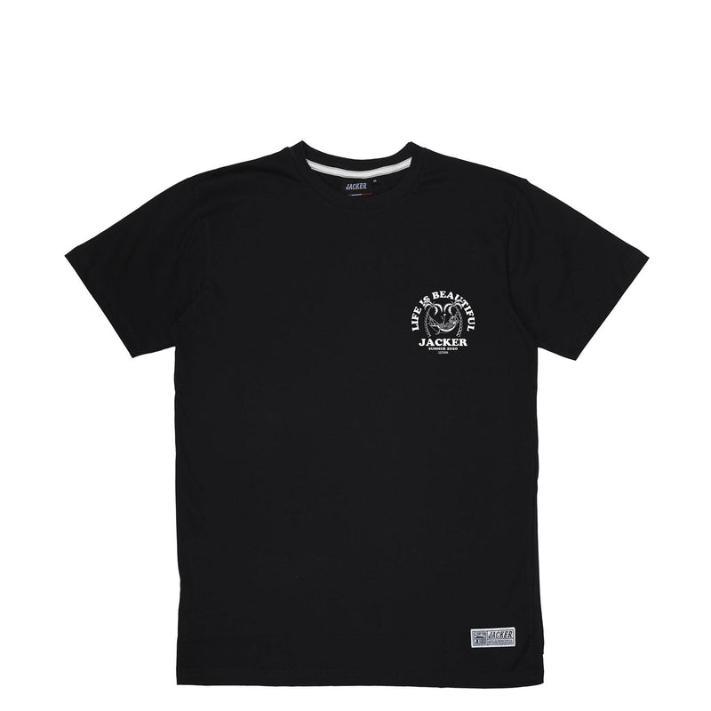 PALM BEACH - T-SHIRT - BLACK