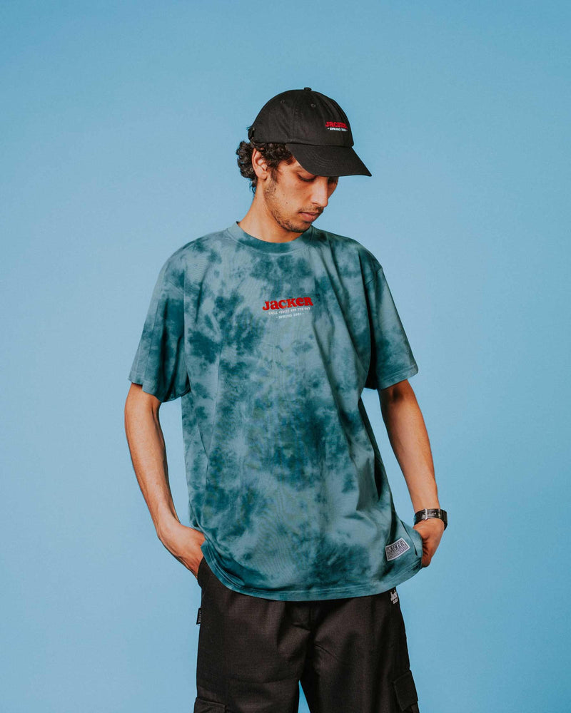 MONEY MAKERS - T-SHIRT - TEAL TIE DYE