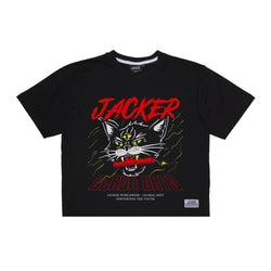 SAVAGE CAT - CROP TOP TEE - BLACK
