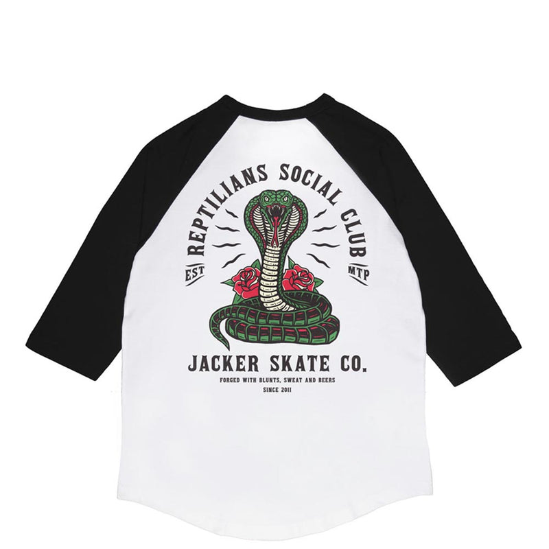 SOCIAL CLUB - RAGLAN - WHITE/BLACK