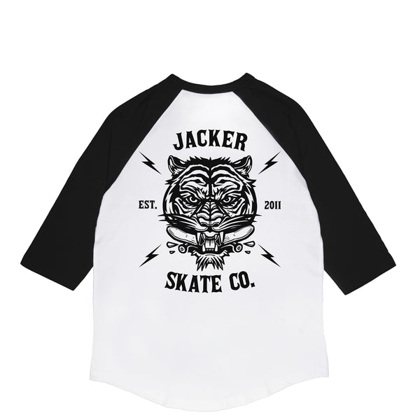 TIGER CO. - RAGLAN - WHITE/BLACK