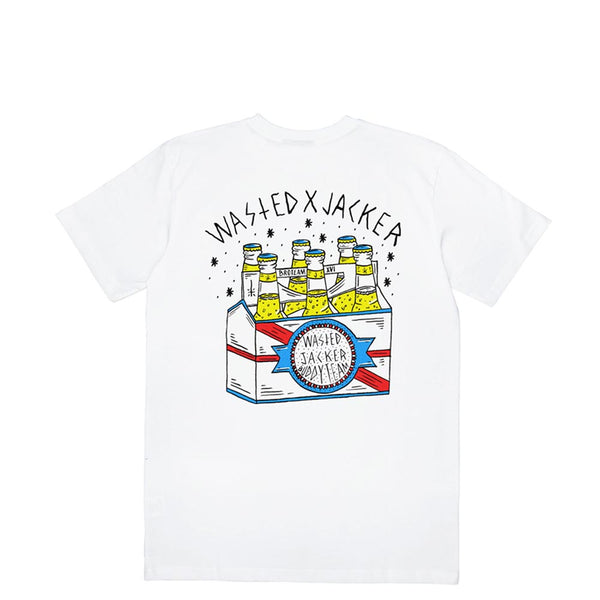 JACKER X WASTED - BOTTLES - T-SHIRT - WHITE