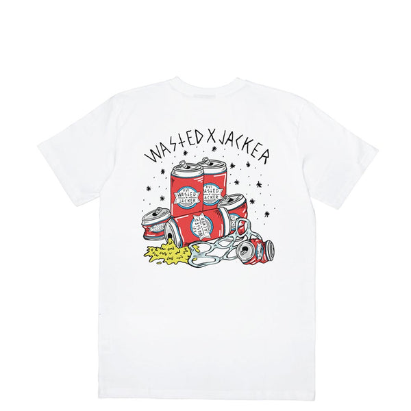 JACKER X WASTED - SIX PACK - T-SHIRT - WHITE