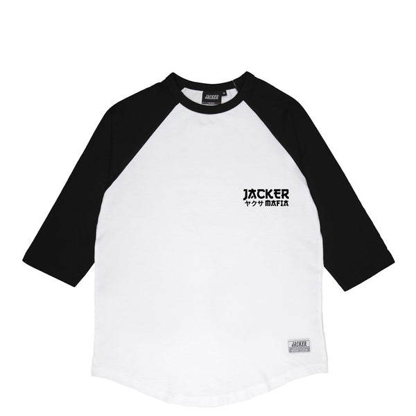 YAKUZA - RAGLAN - WHITE/BLACK