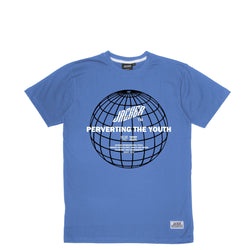 GLOBAL PERVERSION - T-SHIRT - BLUE