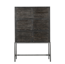 Load image into Gallery viewer, WEATHERFIELD CABINET - BLACK OAK / METAL