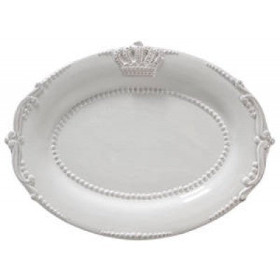 CERAMIC OVAL PLATTER CROWN - Luxe Living
