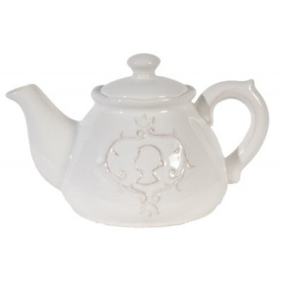 CERAMIC TEAPOT CAMEO WHITE - Luxe Living