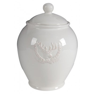 CERAMIC LIDDED JAR STAG - Luxe Living