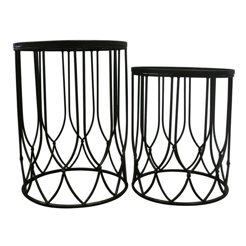 CHANG SET OF 2 SIDE TABLES - Luxe Living