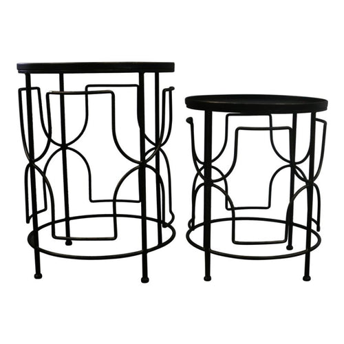 SAMUI SET OF 2 TABLES - Luxe Living