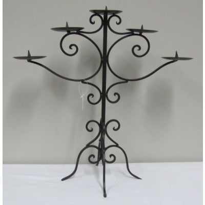 METAL-CANDLELABRA-5 POINT-BLACK - Luxe Living
