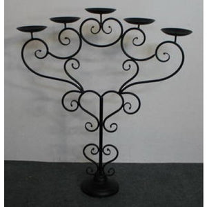METAL CANDLE HOLDER 5 POINT - Luxe Living