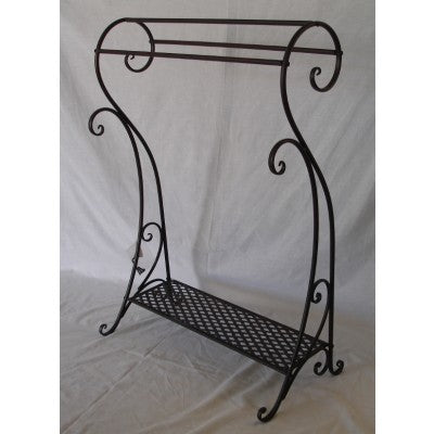 BATHROOM TOWEL RACK BLACK